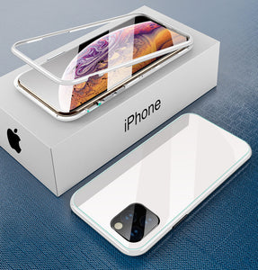 iPhone white TPU magnetic case