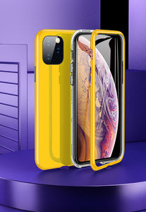 iPhone yellow TPU magnetic case