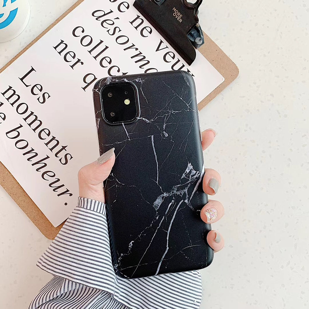 iPhone11 black marble like case 1