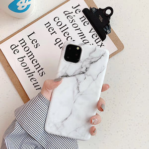 iPhone11 white marble like case 2