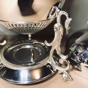 The Groom Heidi - Victorian Silver Egg Coddler with Hen Finial