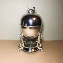Load image into Gallery viewer, The Groom Heidi - Victorian Silver Egg Coddler with Hen Finial
