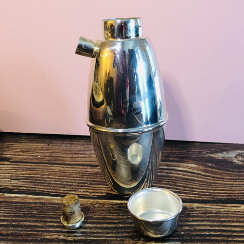 Antique Silver Art Deco Cocktail Shaker