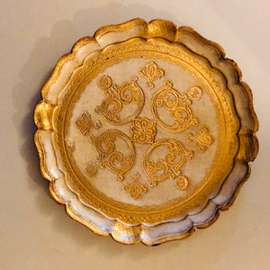 Gold Small Papier Mache Florentine Tray