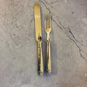 The Headhunter Scott - Antique Silver Table Knife & Fork Duo