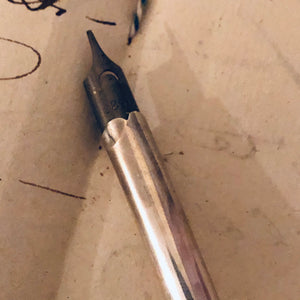 The Director Riley - Antique Silver Dip Fountain Pen
