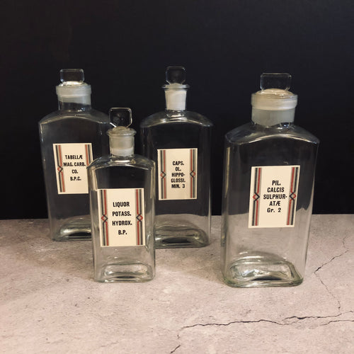 Vintage Apothecary Medicine Bottles