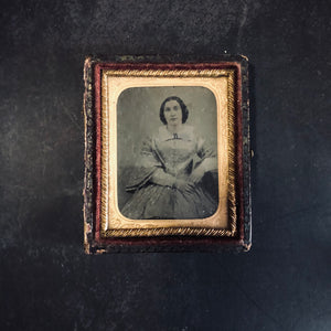 The Director Margaret - Ambrotype Victorian Framed Photograph