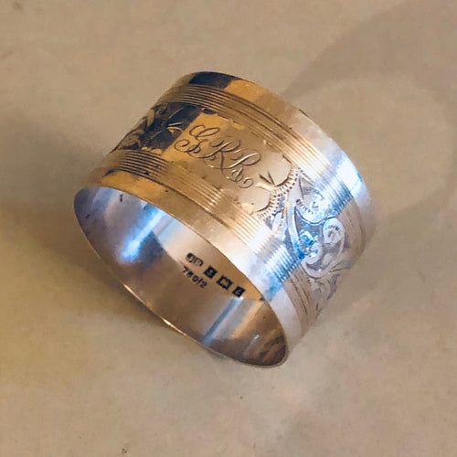 Antique Silver Luxury Napkin Ring Chester 1929