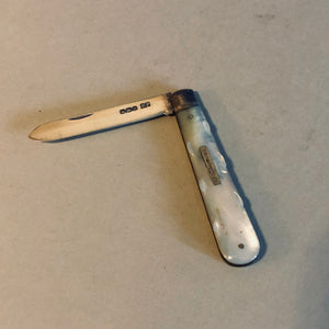 Antique Silver and Mother Of Pearl Fruit Knife 1922