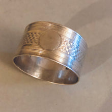 Load image into Gallery viewer, Antique Silver Luxury Napkin Ring Birmingham 1952