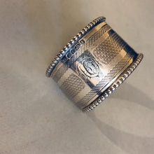 Load image into Gallery viewer, Victorian Antique Silver Luxury Napkin Rings Sheffield 1874