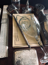 Load image into Gallery viewer, The Director Riley - Antique Silver Dip Fountain Pen