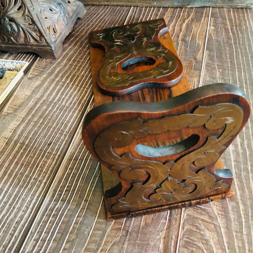 Antique Coromandel Wooden Folding and Expanding Book Holder
