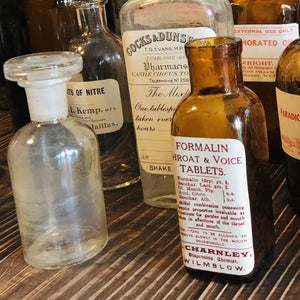 Vintage Apothecary Poison Bottle | Refill Glass Bottle