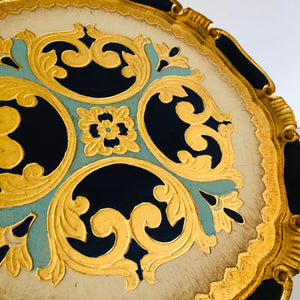 The Tattooist Louis - Gold & Blue Florentine Tray