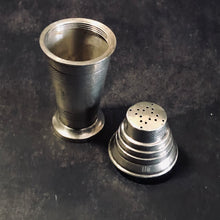 Load image into Gallery viewer, Antique Silver Art Deco Pepper & Spice Shaker Shape of Cocktail Shaker