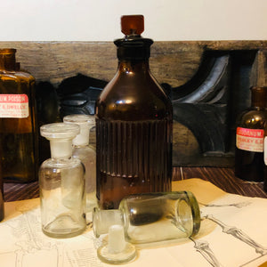 The Artist Alex - 3 Antique Apothecary Lab Bottles