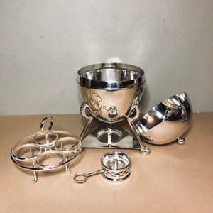 The Groom Fredrick - Art Deco Silver Egg Coddler