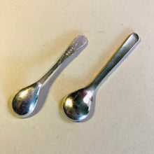 Load image into Gallery viewer, Antique Silver Salt Spoons Stunning and Tiny