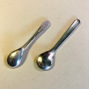 Antique Silver Salt Spoons Stunning and Tiny