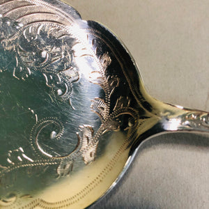 The Headhunter Cameron - Antique Silver Plate Serving Spoon