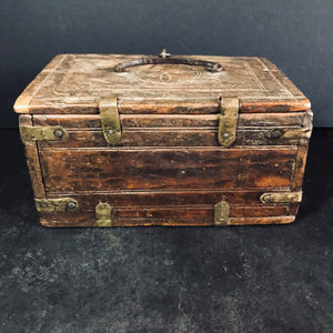 Antique Wooden Chest Handmade From 17th Century