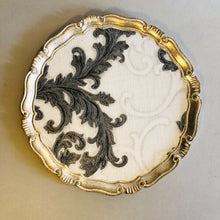 Load image into Gallery viewer, The Tattooist Susan - Silver & White Scroll Leaf Florentine Tray