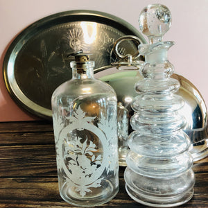 Handblown Vintage Ring Decanter