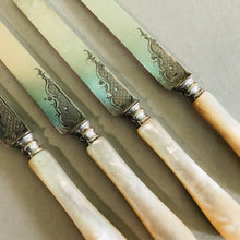 Load image into Gallery viewer, Antique Luxury Silver & Mother Of Pearl Knife | Luxury Flatware