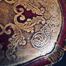 Load image into Gallery viewer, The Tattooist Ida - Red and Gold Florentine Tray