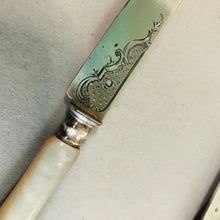 Load image into Gallery viewer, The Headhunter Erin - Antique Silver & Mother Of Pearl Knife