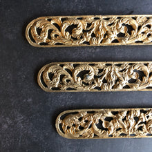 Load image into Gallery viewer, The Pimp Yulia - Pair of Decorative Salvage Brass Plaques