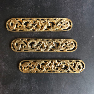 The Pimp Yulia - Pair of Decorative Salvage Brass Plaques