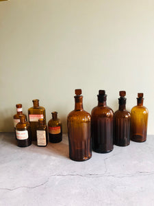 The Artist Jude - Set Of Victorian Apothecary Medicine Bottles