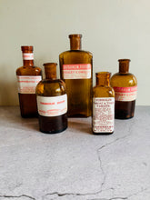 Load image into Gallery viewer, The Artist Jude - Set Of Victorian Apothecary Medicine Bottles
