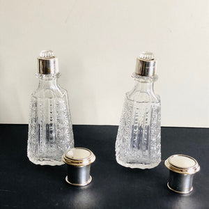 The Artist Susan  - Pair of Antique Vanity Bottles
