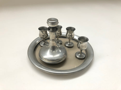 The Artist Cullen - Antique Miniature Pewter Decanter Set