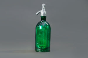 The Artist Lewis - French Green Glass Soda Syphon Seltzer Bottle