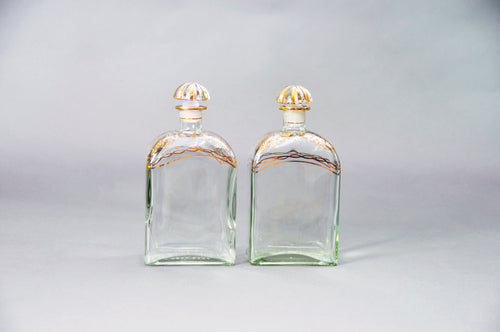 The Artist Nicholas - Pair of Vintage Spanish Liquor Bottles
