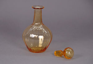The Artist Tom - Vintage amber glass decanter
