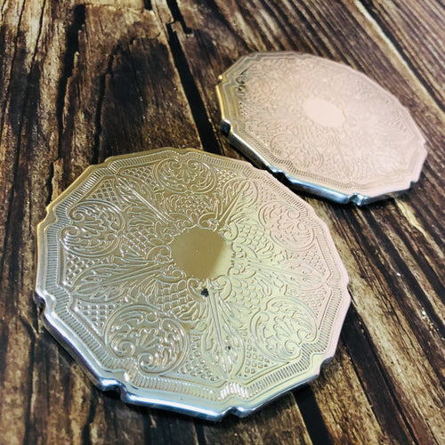 Antique Silver Coasters