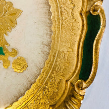Load image into Gallery viewer, The Tattooist Max - Gold & Green Florentine Tray