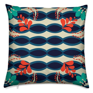 The Sommelier Jude - Cotton Printed Cushion in Tribal Print