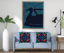 Load image into Gallery viewer, The Sommelier Erin - Cotton Printed Cushion in Folk Design