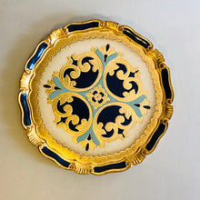 Load image into Gallery viewer, The Tattooist Louis - Gold & Blue Florentine Tray
