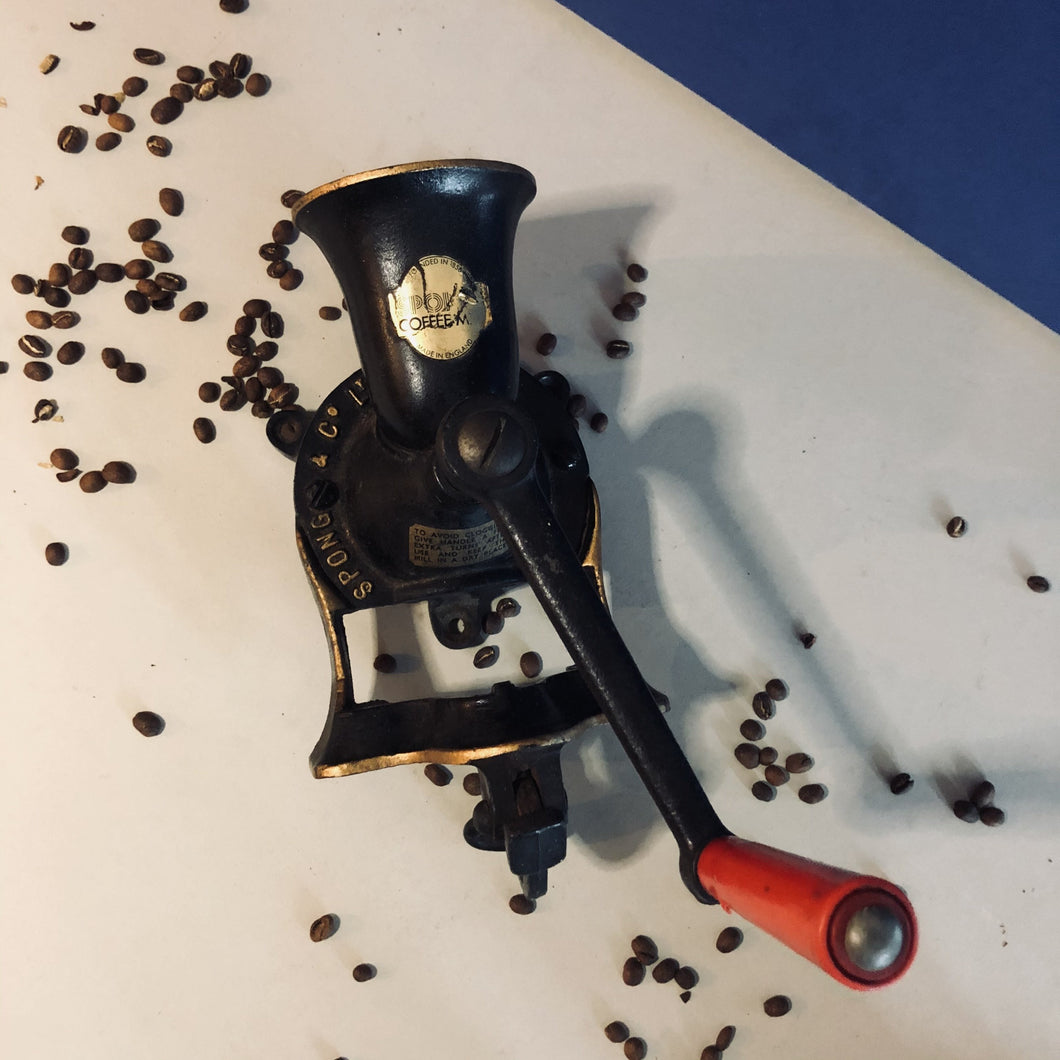 Vintage Spong Manual Coffee Grinder
