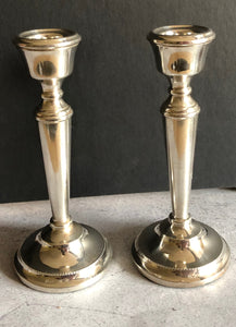 The Director Cameron -  Small Solid Silver Candlesticks