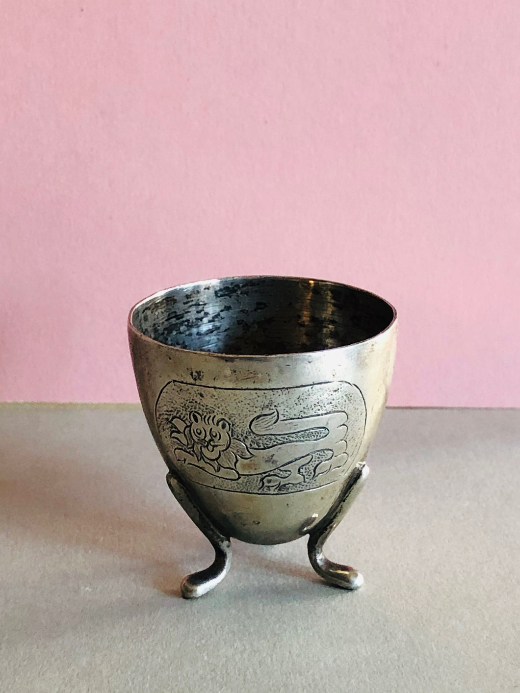 The Director Elizabeth - Antique Silver Plate Egg Cup