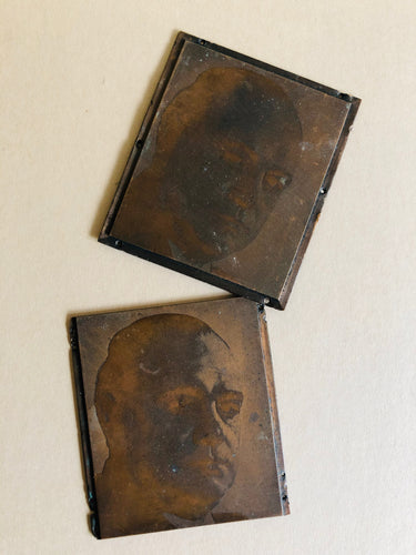 The Director Evan - Pair of Small Vintage Copper Printing Plates